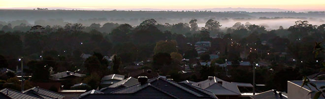 View of Bacchus Marsh Dawn